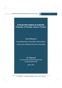 Syrian Refugees in Europe