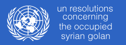 UN resolutions concerning the occupied Syrian Golan